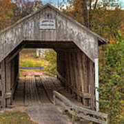 Ky Hillsboro Or Grange City Covered Bridge Art Print