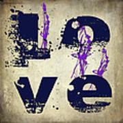 L O V E Crumbling Art Print