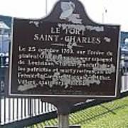 La-013 Le Fort Saint-charles Art Print