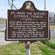 La-024 St John The Baptist Catholic Church 1770 Art Print