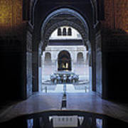 La Alhambra Patio De Los Leones Art Print