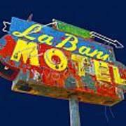 La Bank Motel Art Print