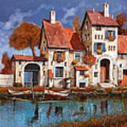 La Cascina Sul Lago Art Print