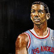 La Clippers' Chris Paul  Print by Michael  Pattison