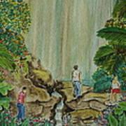 La Coco Falls El Yunque Rain Forest Puerto Rico Art Print
