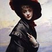 La Coquette Art Print by Gustave Jean Jacquet