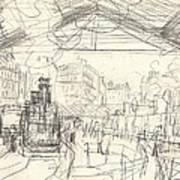 La Gare Saint Lazare Art Print