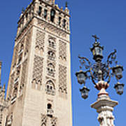 La Giralda Cathedral Tower In Seville Art Print
