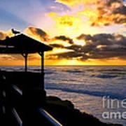 La Jolla At Sunset By Diana Sainz Art Print by Diana Sainz
