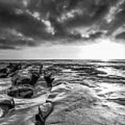 La Jolla In Black And White Art Print