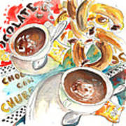 La Laguna Churros Y Chocolate Art Print