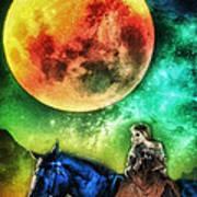 La Luna Art Print by Mo T