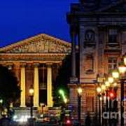 La Madeleine At Night Art Print by Colin Woods