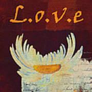 La Marguerite - Love Red Wine  Art Print