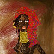 La Mujer De Africa  Art Print