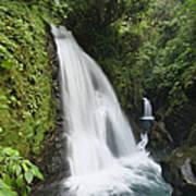 La Paz Waterfalls In Rainforest Costa Art Print