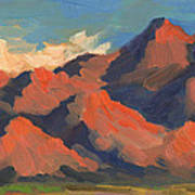 La Quinta Mountains Morning Art Print