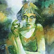 La ragazza che fumava gauloises Art Print