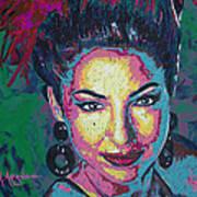 La Reina De Miami Print by Maria Arango