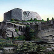 La Rocca De Monte Calvo Art Print