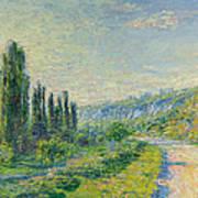 La Route De Vetheuil Art Print