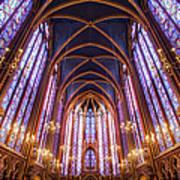 La Sainte-chapelle Upper Chapel, Paris Art Print