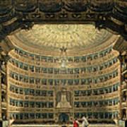 La Scala, Milan, During A Performance Art Print