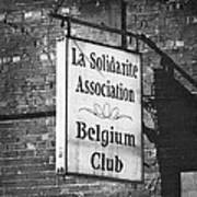 La Solidarite Association Belgium Club Art Print