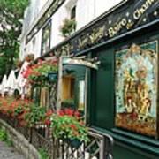 La Terrasse In Montmartre Art Print