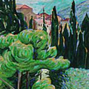 La Turbie Hills Above Monaco Art Print