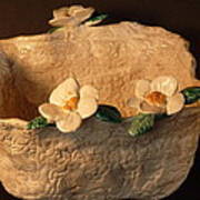 Lace Bowl Sculpture Art Print by Debbie Limoli