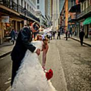 Lacey And Adam Wedding 2 Art Print