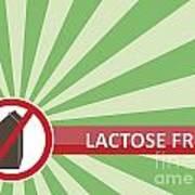 Lactose Free Banner Art Print