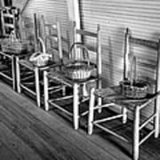 Ladder Back Chairs And Baskets Art Print by Lynn Palmer
