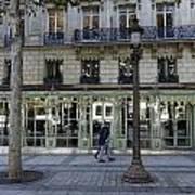 Laduree On The Champs De Elysees In Paris France  Art Print