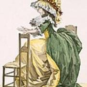 Ladies Elaborate Gown, Engraved Art Print