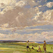 Lady Astor Playing Golf At North Berwick Art Print