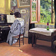 Lady At The Piano Print by Felix Edouard Vallotton