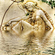 Lady Bathing 2 Art Print