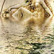 Lady Bathing Art Print