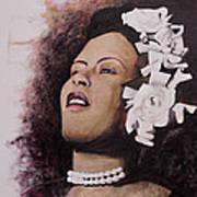Lady Blues Art Print
