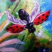 Lady Bug Landing Art Print