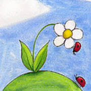 Lady Bug Love Art Print