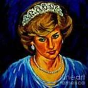 Lady Diana Portrait Art Print