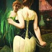 Lady Dressing Art Print