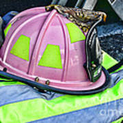 Lady Firefighter Art Print