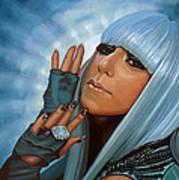 Lady Gaga Painting Art Print