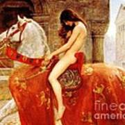 Lady Godiva Art Print by Pg Reproductions