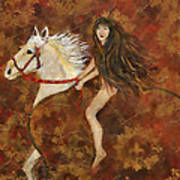Lady Godiva Rides For Love Art Print