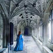Lady In A Corridor Art Print